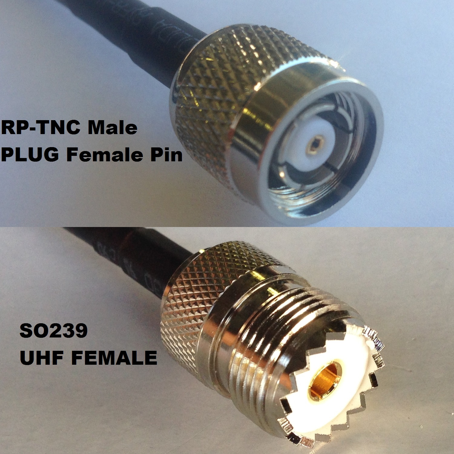 RG316 PL259 UHF Male to F FEMALE Coaxial RF Cable USA-US