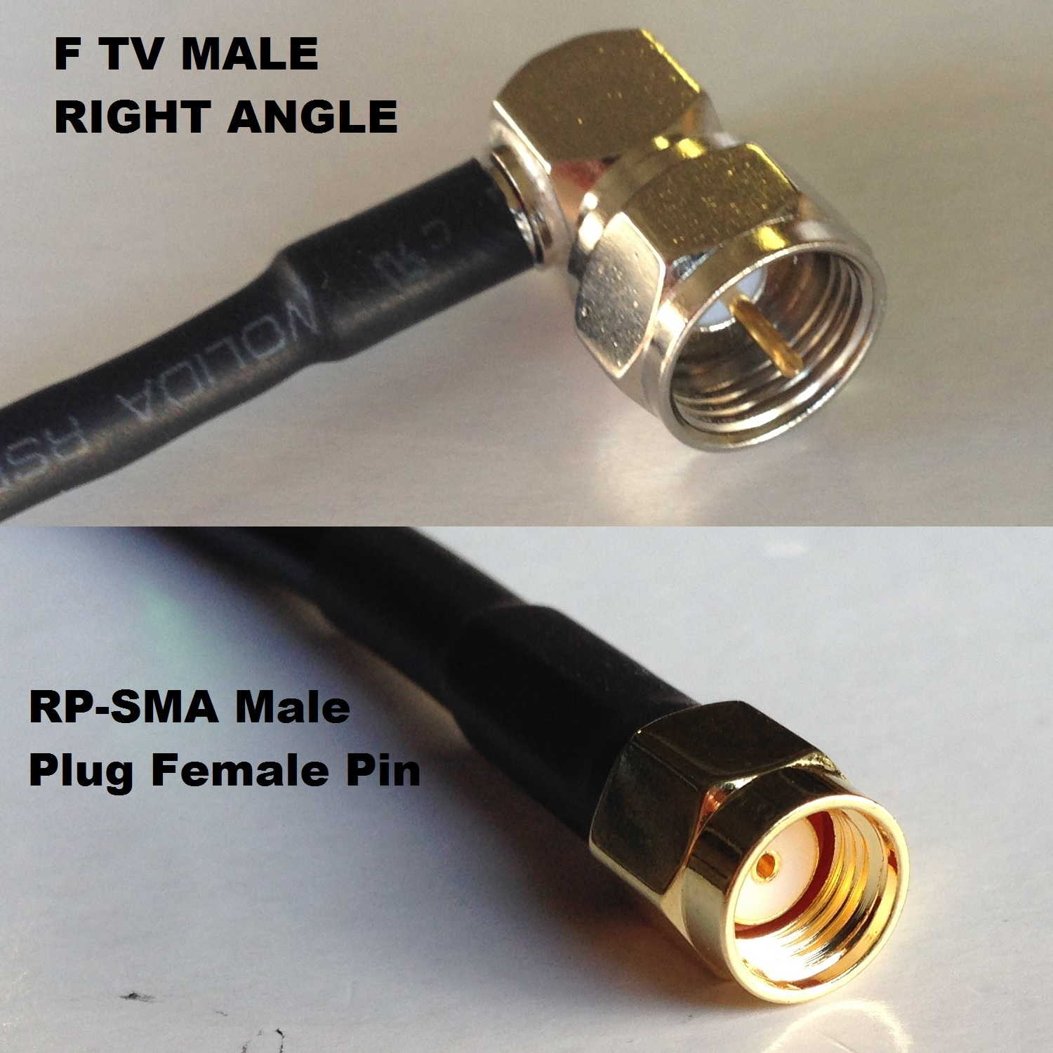 USA-CA RG188  SMA FEMALE to SMA MALE Coaxial RF Pigtail Cable