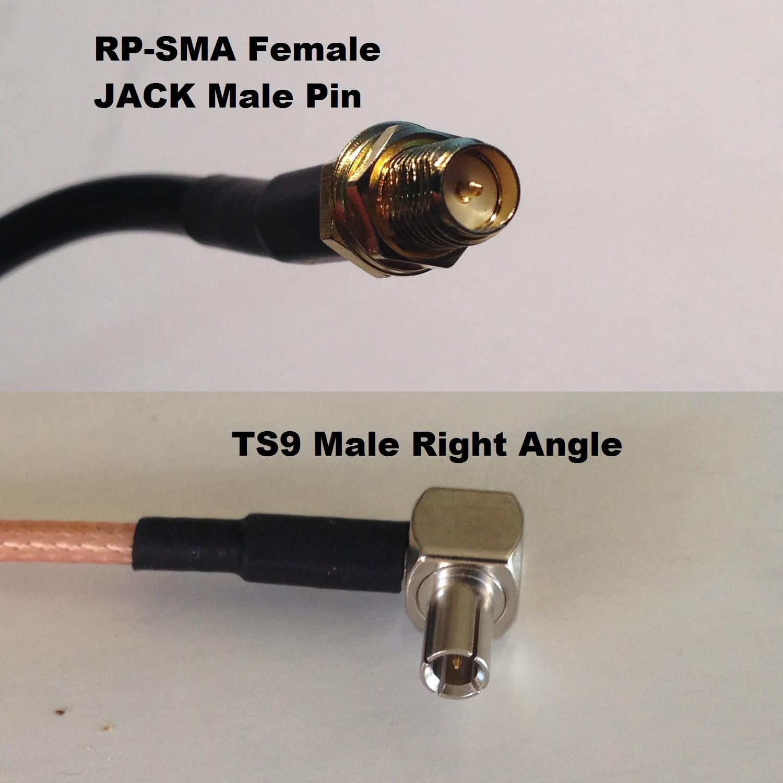 RG316 SMA MALE to TS9 ANGLE MALE Coaxial RF Cable USA-US
