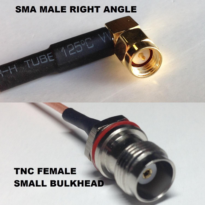 RG316 MS147 ANGLE MALE to SMA MALE Coaxial RF Cable USA-US