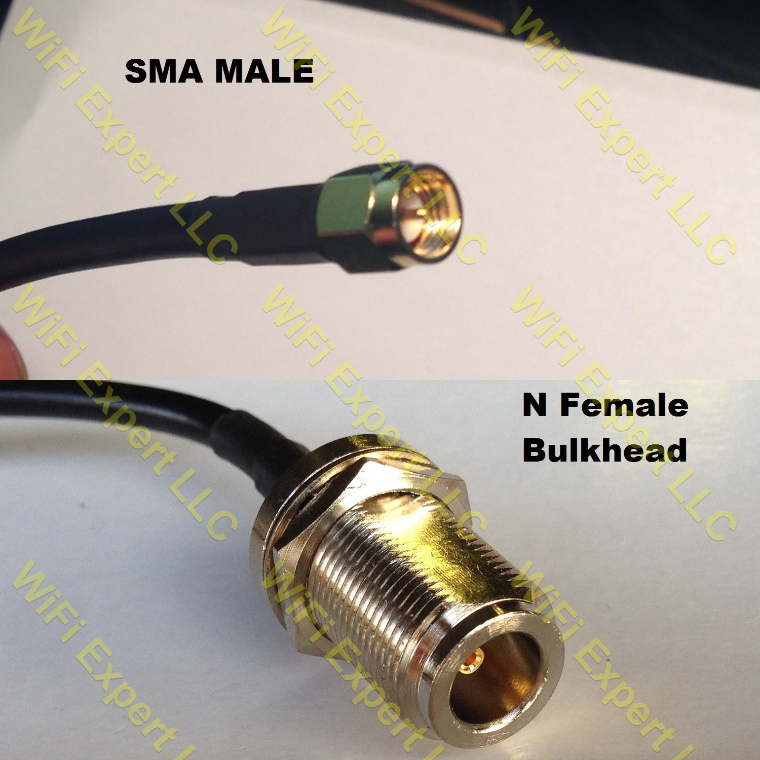 8/' RFC-195 Wi-Fi RP-SMA Male to N-Type Female Cable.