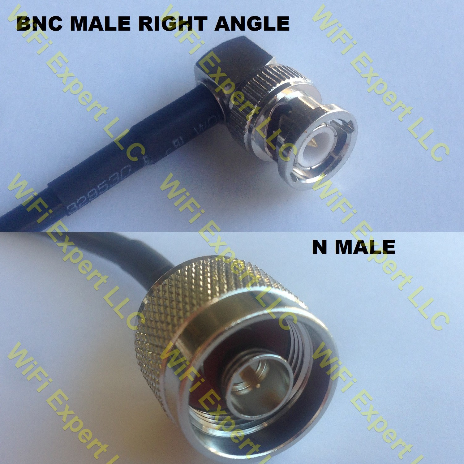 USA-CA RG188  PL259 UHF Male to BNC FEMALE Coaxial RF Pigtail Cable