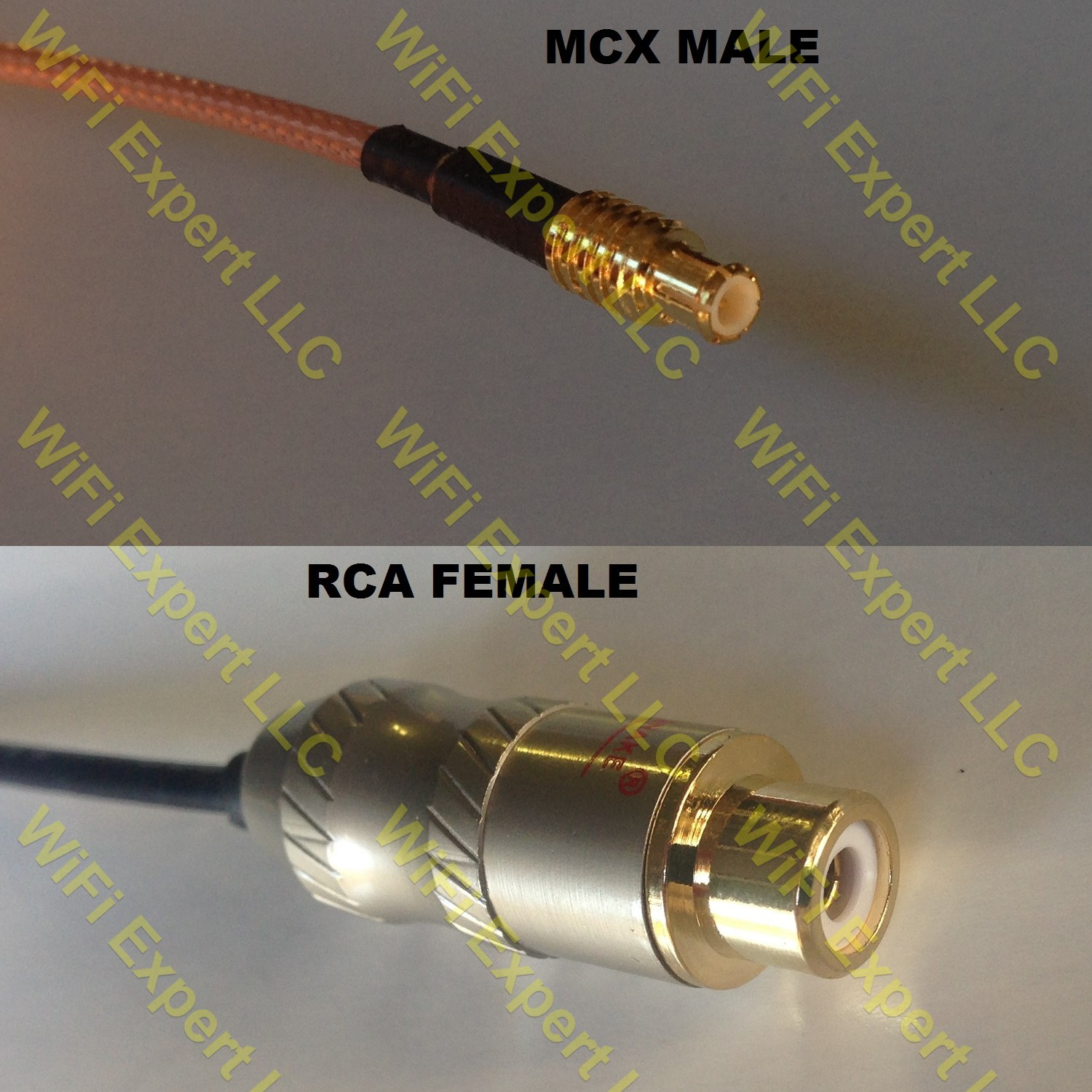 USA-CA RG58 RCA MALE to RCA MALE Coaxial RF Pigtail Cable