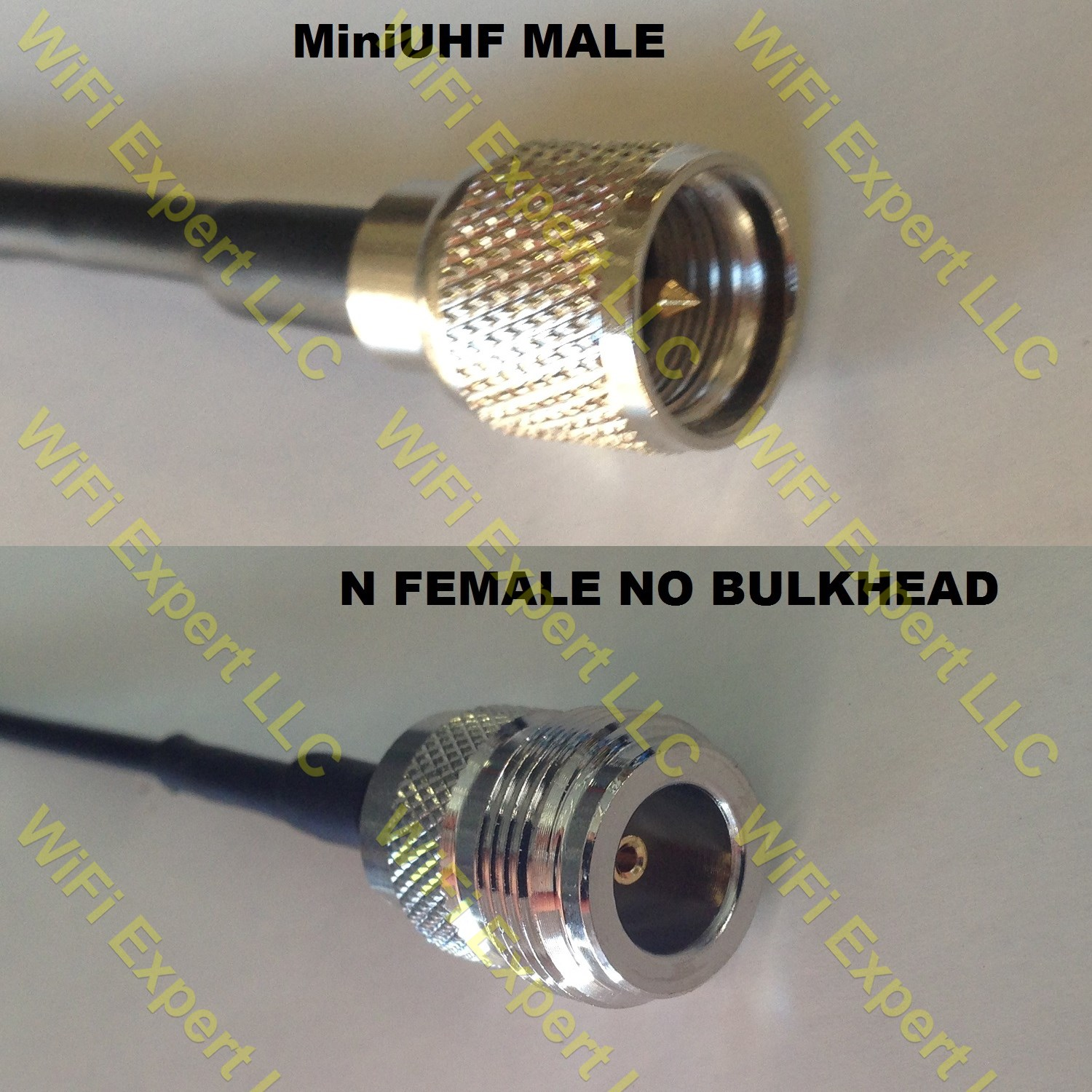 USA-CA RG400 PL259 UHF Male to MINI UHF MALE Coaxial RF Pigtail Cable