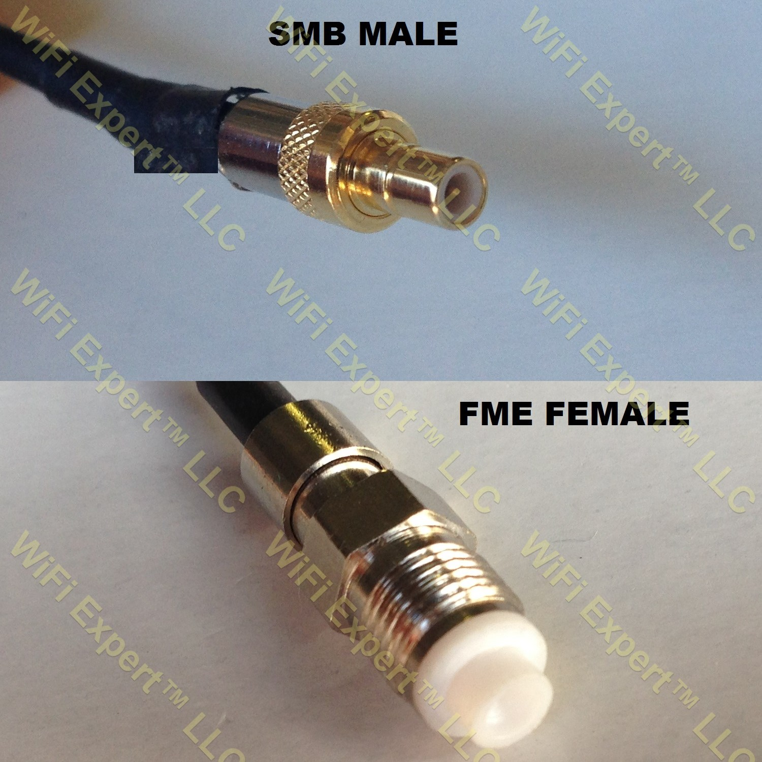 USA-CA LMR100 N MALE to SMB FEMALE Coaxial RF Pigtail Cable