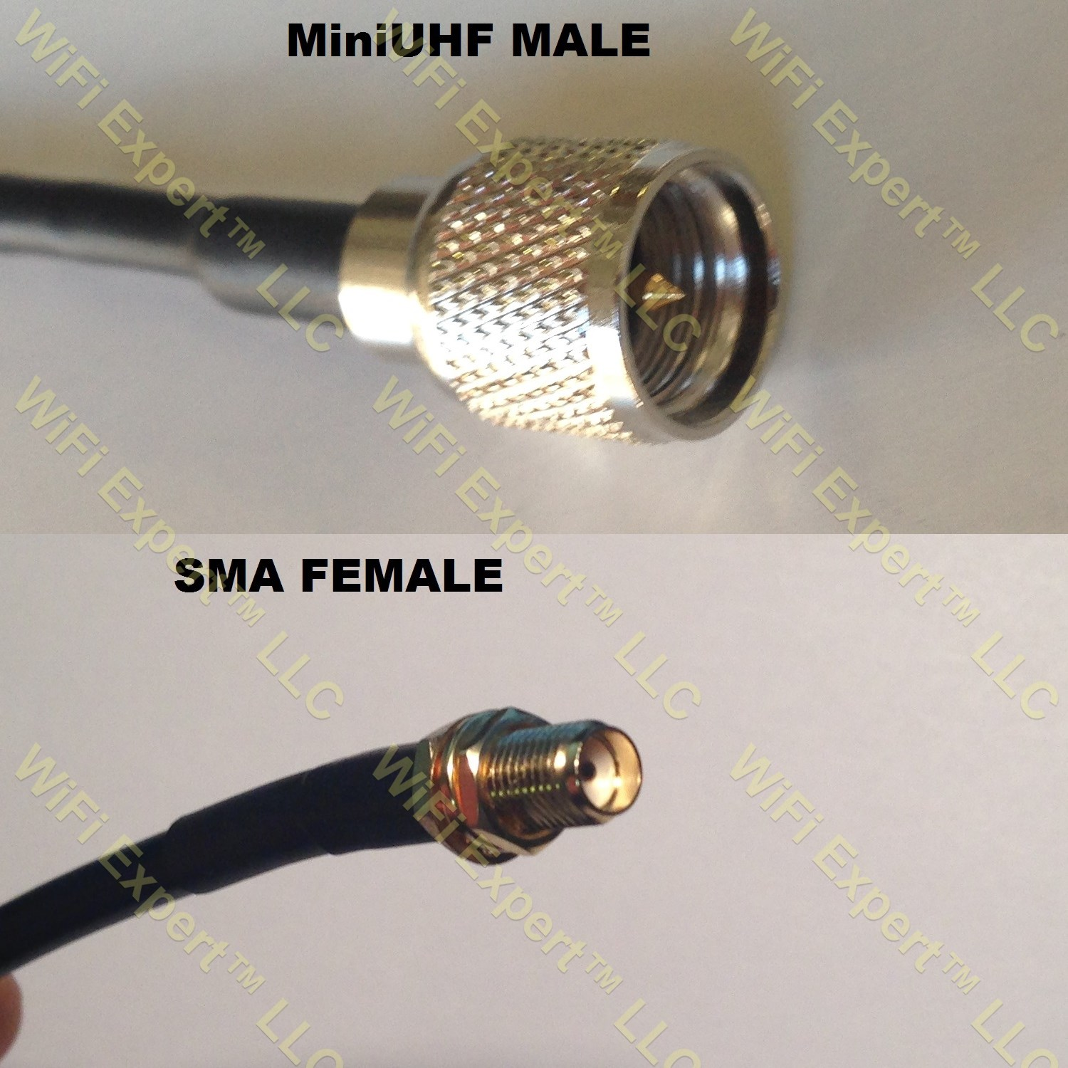 USA-CA RFC195 SMA FEMALE to SMA MALE Coaxial RF Pigtail Cable