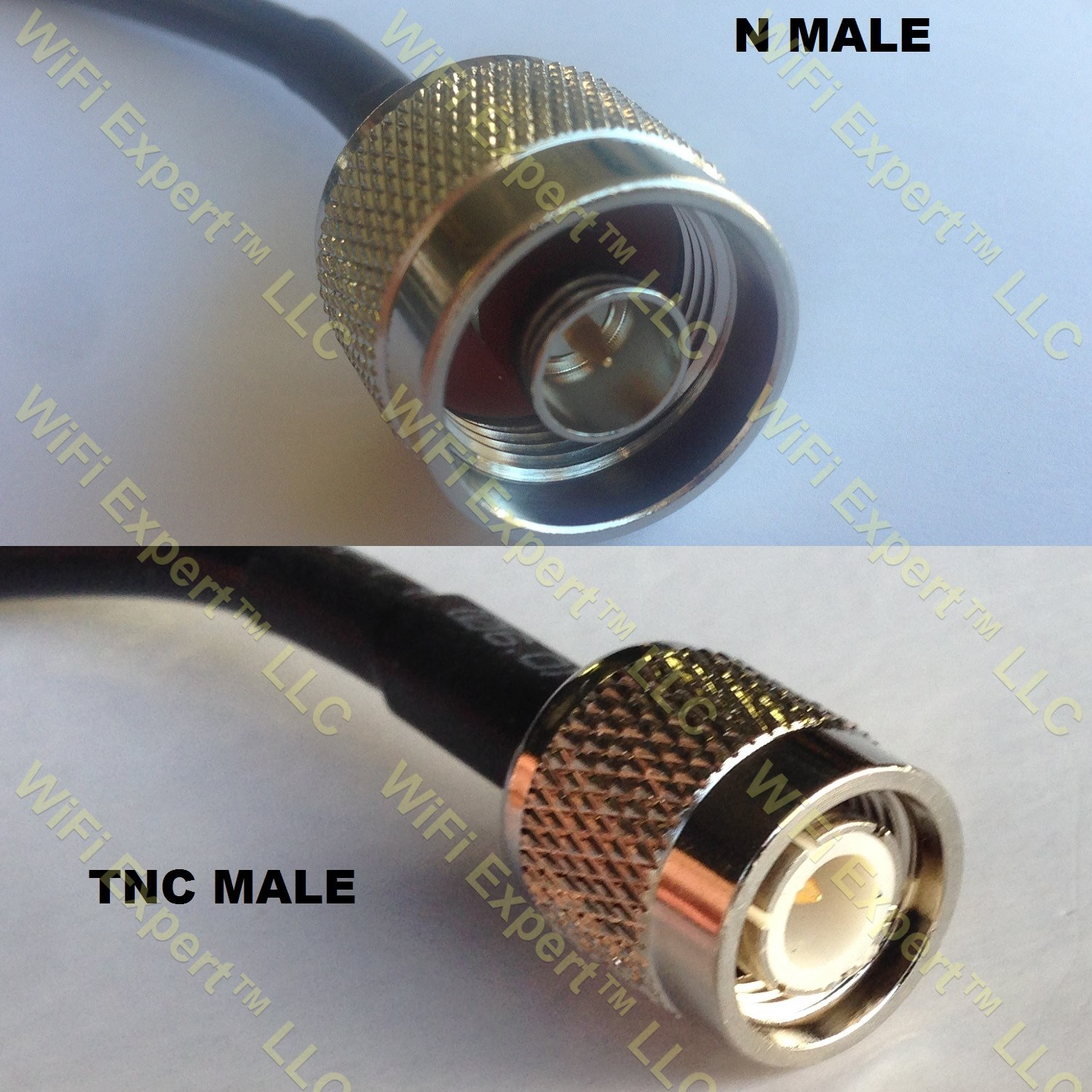 USA-CA RG58 TNC MALE to TNC MALE Coaxial RF Pigtail Cable