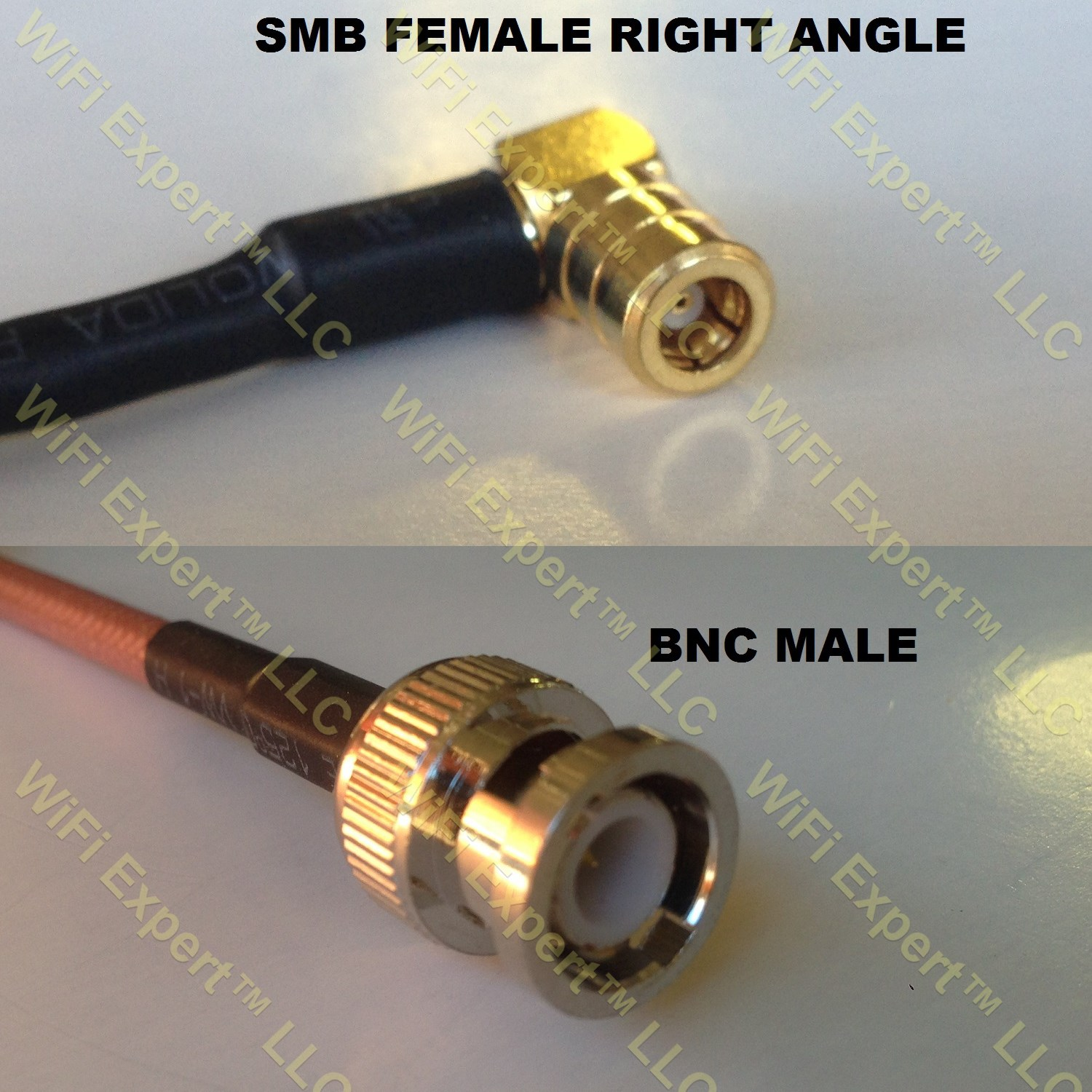 USA-CA RG316 MCX MALE ANGLE to BNC FEMALE Coaxial RF Pigtail Cable